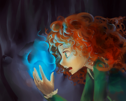 Merida + Will-O-Wisp by tinhan
