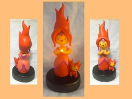 Flame Princess Light-Up Sculpt by CadmiumCrab