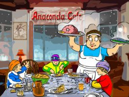 Anaconda Cafe Cover by vicariousmonster