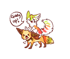Giddy up! by Magicpawed