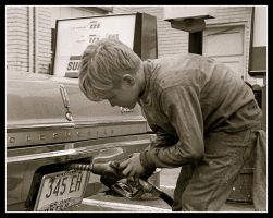 Garage boy pumping Gas.img310, with story by harrietsfriend