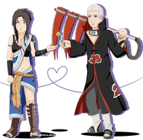 .:AT:.  Hidan X Fang. by MayaNara