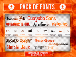 +FONTS PACK 6 by LupishaGreyDesigns