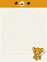 rilakkuma stationary by neko-loverx3
