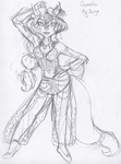 Sketch: Belly dancing Carmelita, my version by Moon-Shyne