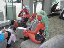 Otakon 2013 - Scanty and Kneesocks by mugiwaraJM