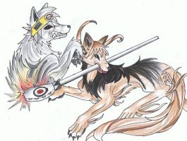Soul and Maka Wolves by Kel-Del