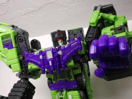 Devastator crush Autobots by forever-at-peace