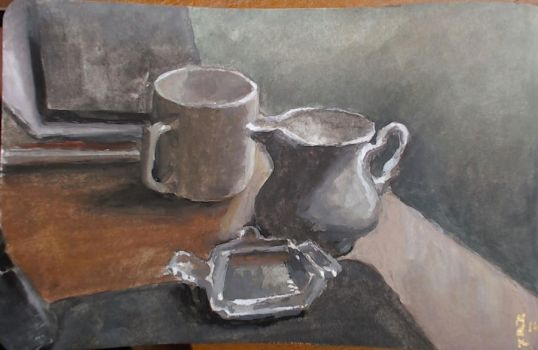 Still Life Study with Gouache by DM7