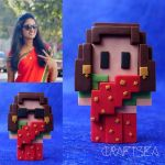 Handmade Clay Indian Saree Voxel by apoorvab