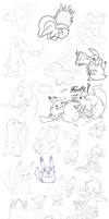 Doodles: Pokemon by Nintendrawer