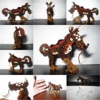 Chaquira fantasy creature by freetobe