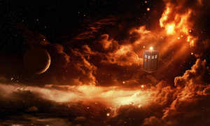 Tardis in Space - Wallpaper by MrArinn