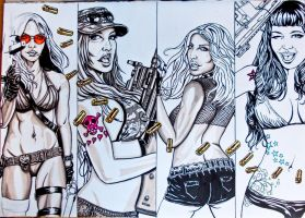 girls and guns wip 5 by FDupain
