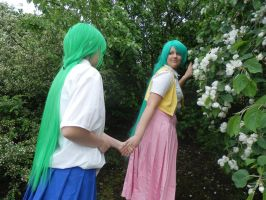 Lets go together (higurashi Mion and Shion) by tutti-chan