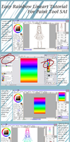 Rainbow Lineart Tutorial- Paint Tool SAI by TeaAndScone
