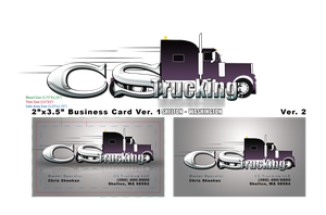 CS Trucking business card by fireproofgfx