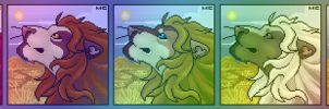 Male Lion Port 2 by CreatureCreatingBabe