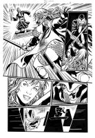 Red Sonja 64 page 16  Inks by wgpencil