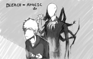 Ichigo and Slender Man by bleach-aholicX3