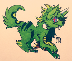 Creature Chib Commish - Wolfieteen by MGMaguire