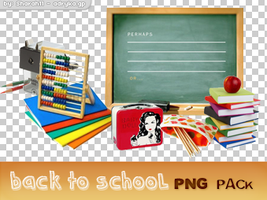 'Back to school' PNG pack - 18 pictures by Sharah11