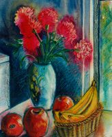 still life with red carnations by karincharlotte