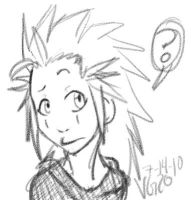 KH: Chibi Axel. by VampireGoddess20