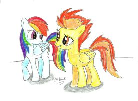 Spitfire and Rainbow Dash by UlyssesGrant