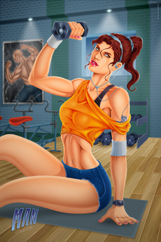 Gym Girl (Strong gym woman) by manthx