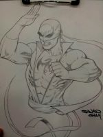 iron fist sketch commission at wizardworkd austin by Sajad126