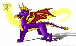 spyro the dragon by Hunter-T-Wolf