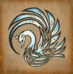 Royal swan - tattoo design by AlviaAlcedo