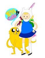 ADVENTURE TIME with FIONNA and JANE by XxDaimonxX