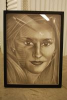 The Big Face (Sorry About The Reflections!) by artguyblackandwhite