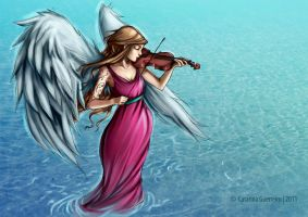 Angel playing Violin by Catarina-Guerreiro
