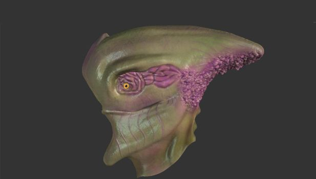 Alien Fish Head by Movlance