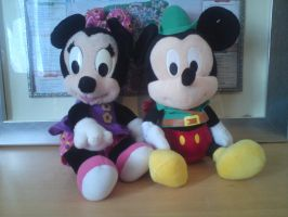 minnie and mickey mouse plush by lyndzeepie