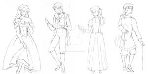 Beside You In Time Sketches by Hira--Akami