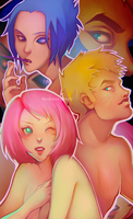 Team 7 Posed by TheDrawingBeeb