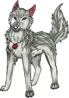 Smiling Wolfie by RedSoulWolf13
