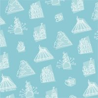 Disneyland Pattern East by Mr-Bluebird