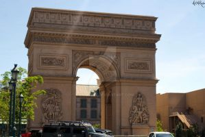 Vegas Strip Arc de Triomphe by AWildRose