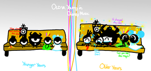 Old vs. Young in Disney Music by AngryBirdsStuff
