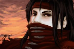 Cloudy sunset Vincent Valentine by thehappygirl