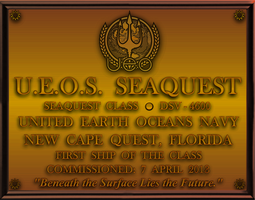 seaQuest DSV Dedication Plaque by viperaviator