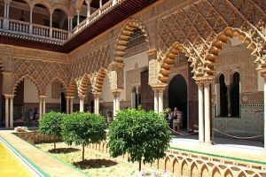 Courtyard in the Alcazar by AgiVega