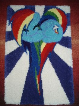 Rainbow Dash Rug by HyperionMaster
