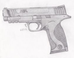 Smith and Wesson MP 45. by DICEMAN987