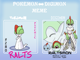 PKMN to Digimon Meme - Ralts by Caretaker-of-Myth